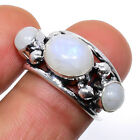 Rainbow Moonstone 925 Sterling Silver Jewelry Ring 6.5 (9450) F191 S2738