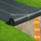 1,2,3,4m Wide Heavy Duty Weed Control Fabric Membrane Garden Ground Cover Sheet