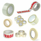 PACKING PARCEL TAPE Brown Clear Fragile Duct Masking Gummed Paper Tape Roll 66m
