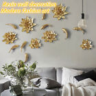 3d Resin Flower Fish Home Living Room Decor Wall Sticker Removable Mural Diy