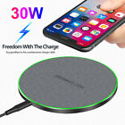 30W Qi Wireless Charger Fast Charging Mat For iPhone 12 Pro Max Samsung S21 S20+