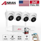 ANRAN 1080P Wireless Security Camera System Home 2way Audio In/outdoor 8CH 1/4TB