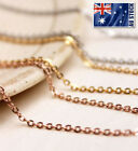 """Stunning 18k Rose Gold Filled 1.5mm Classic Chain Necklace 16 - 30"""" Good Quality"""