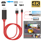For Android 4K USB C Type C To HDMI Mirroring Cable Phone To TV HDTV AV Adapter