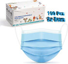 10/50/100 Pcs Kids Children Blue 3-Ply Disposable Face Mask Earloop Mouth Cover