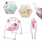 NEW RC Electric Baby Swing Cradle Infant Music Rocking Chair Sway Seat Bouncer