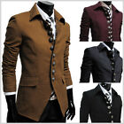 (737) THELEES Mens Casual Luxury 8 Button slim fit Blazer Jacket