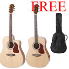Kalos Dreadnought or Cutaway Acoustic Guitar +Gigbag