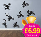 Wall Stickers, wall deco, wall art, motocross, bikes