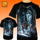 Native American Indian Eagle Wolf Horse Biker T Shirt