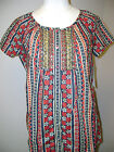 Charter Club S/S Floral Pattern Button Blouse NWT $60