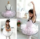 2Color Girl New Party  Leotard Ballet Tutu Dress SZ3-8Y