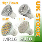 12xGU10/MR16 48/3W LED LIGHT BULBS DAY/WARM WHITE SPOT