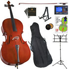 Cecilio Cello Outfit Black Blue Pink Purple Size 4/4 3/4 1/2 1/4 1/8+Sheet Stand