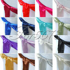50PCS New Satin Chair Sashes Bows 15cm*275cm Wedding
