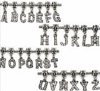 Alphabet Rhinestone Letter Bead Fits Womens Girls Charm Necklace & Bracelets