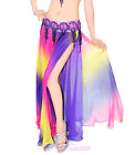 NEW Belly Dance Costume skirt 2 layers with slits Skirt Dress 6 colors