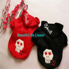 Fashion Skull Jumper Sports Hoodie Dog Clothes Free shipping