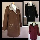 Ladies Womens Padded Quilted Microfibre Winter Warm Jacket Coat New