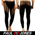 Sexy Men's Long johns Smooth mesh Thermal underwear Pants see-through 3Sz 5Color