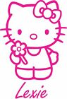 Hello Kitty  sticker  910mm high personalised wall art with personalised name