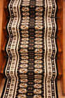 Lima Black Brown Old Style Stair Carpet Extra Long Runner Rugs Cut to Any Length
