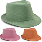 Men Women Fedora Vintage Felt Wool Wide Brim Cloche Floppy Bowler Hats Jazz Cap