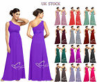 Red  Blue One Shoulder Chiffon Evening Bridesmaid  Dress size 8 - 24