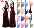 New Beadings  Bridesmaid Wedding Party Prom long Evening Dress UK stock 6 - 18