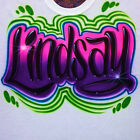 Airbrush T Shirt With Graffiti Name, Airbrush Graffiti, Airbrush Shirt, Airbrush