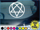 'HIM HEARTAGRAM LOGO' vinyl car / guitar sticker.