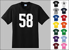 Number 58 Fifty Eight T-Shirt