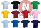 Fruit of the Loom blank plain Childrens Kids t-shirt 1-13 years school craft