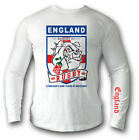 Long-sleeved t-shirt ENGLAND RUGBY DOG. Ideal for: Rugby Fan,Hooligans,Training,