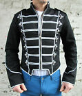 Military Jacket Black Silver New Blacklist Chemical Romance Criminal Damage Mens