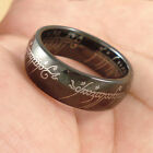 COOL Black LOTR Tungsten Carbide Band Rings 8mm W3