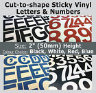 "79 x Sticky Letters and Numbers 2"" , Self-Adhesive , Plastic Vinyl Lettering"