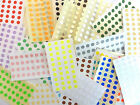 6mm Round Colour Code dot Stickers Coloured Circles Sticky Adhesive spot Labels
