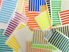 50x5mm Rectangle Colour Code Stickers Coloured Sticky Self-Adhesive Labels