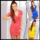 Classic Tunic Draped Zipper Mini Dress for Everyone Fit for sizes 8 - 12 HQ 5967