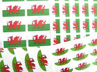 Wales Flag Stickers Welsh Dragon Labels - Various Shapes & Sizes