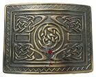 UT Kilts Brass Antiqued Kilt Belt Buckle - Several Unique Designs