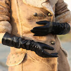 Women's fashion shining geniune leather long eblow driving gloves
