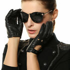WARMEN BRAND Women Genuine nappa Leather motorcycle driving backless hole Gloves