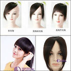 lady's clip in on human hair bang / fringe extensions 100% human hair easy clips