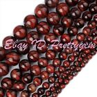 Round Red Tiger's Eye Gemstone For DIY Jewelry Making Spacer Beads Strand 15""