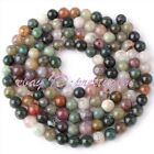 """JEWELRY MAKING 3MM ROUND MULTICOLOR INDIAN AGATE SPACER GEMSTONE BEAD STRAND 15"""""""