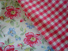 GreenGate Cotton Fabric Oda Raspberry or Pernilla White by the Metre