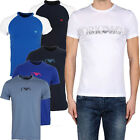 Emporio Armani Mens Round Neck T-Shirts Stretch Cotton Mens Armani Slim Fit Tops