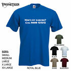 'How's my Dancing - Call? 0800 121212'. - Funny mens t-shirt. S-XXL